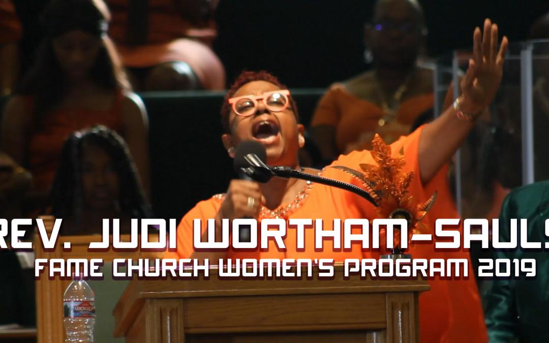 Rev. Judy Wortham-Sauls at FAME Church Women's Program 2019
