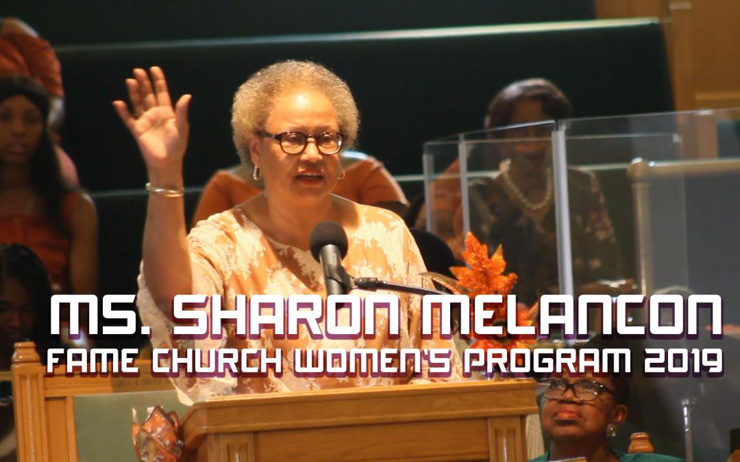 Ms. Sharon Melancon at FAME Church Women's Program 2019